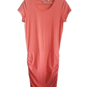 Athleta Dress Ruched Sides T Shirt Dress Size S